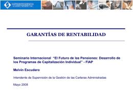 Melvin Escudero - Garantías de Rentabilidad