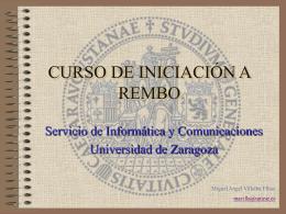 CURSO DE INICIACIÓN A REMBO
