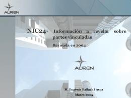 NIC24- Información a revelar sobre partes