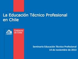 La Educación Técnico Profesional en Chile. Matías Lira.