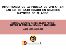HOSPITAL GUAYAQUIL *Dr. ABEL GILBERT PONTON* DPTO