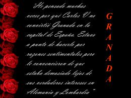 He pensado muchas veces por qué Carlos V no convirtió Granada