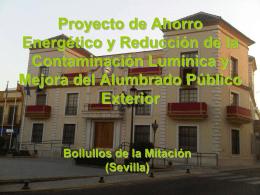 Proyecto de Ahorro Energético y Reducción de la Contaminación