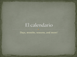 El calendario - Mendy Colbert