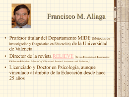 Dr. Francisco M. Aliaga