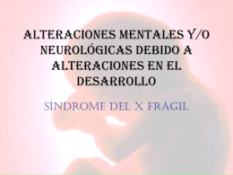 Síndrome del x frágil - Federación Española del Síndrome X Frágil