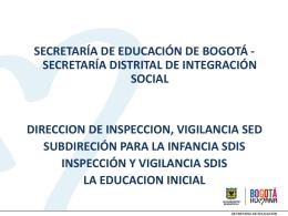Educación Inicial - Educación Bogotá