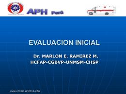 Atención Prehospitalaria: Evaluación Inicial