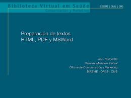 Preparo de textos HTML e PDF