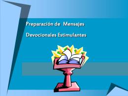 Preparo de Mensagens Devocionais Estimulantes