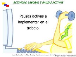 actividad laboral y pausas activas
