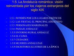 1.5. La Andalucía romántica: visión reinventada por los viajeros