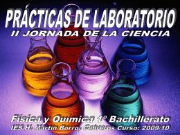 semana de la ciencia 2010 - IES Hermenegildo Martín Borro
