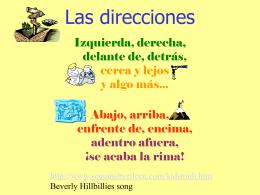 Las direcciones