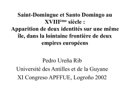 Saint-Domingue y Santo Domingo