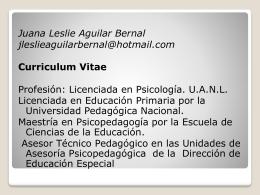 Juana Leslie Aguilar Bernal