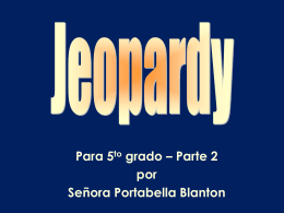 Jeopardy Gr5
