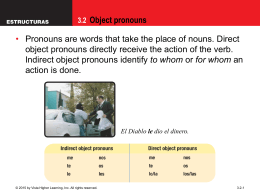 3.2 Object pronouns