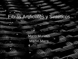 Fibras Artificiales y Sintéticos