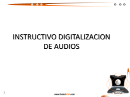 Digitalización audios