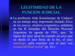 legitimidad de la función judicial