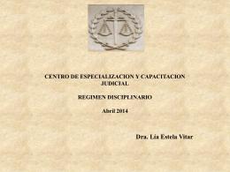 Regimen Disciplinario. - Poder Judicial Tucumán