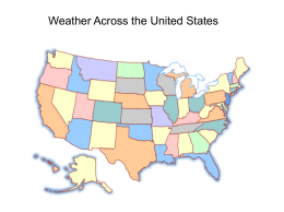 Weather Across the United States San Francisco Carson City Los
