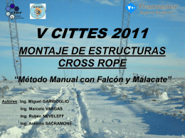 montaje de estructuras cross rope-metodo manual con