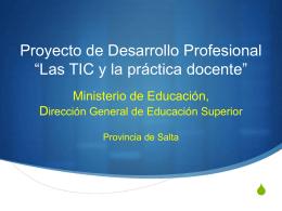 Proyecto de Desarrollo Profesional