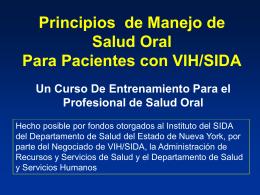 Consideraciones periodontales en el paciente VIH