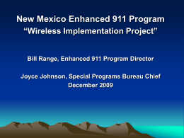 New Mexico Enhanced 911 Program
