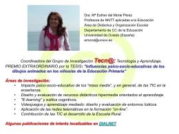 Dra. Mª Esther del Moral Pérez