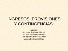 INGRESOS: