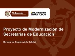 Macroproceso N - Proyecto de Modernización de Secretarías de