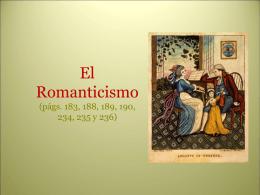 Romanticismo (XIX) - lenguayliteraturasoto