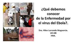 Conferencia educación médica continuada Ébola