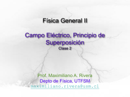 Campo Eléctrico - Maximiliano A. Rivera