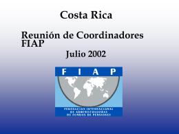 Costa Rica - III Reunión - (FIAP) Federación Internacional de