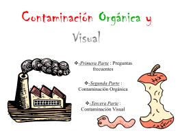 Contaminación Orgánica y Visual