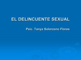 perfil psicologico del delincuente sexual