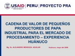 Presentación para Huancayo FRITO LAY