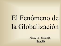 El Fenómeno de la Globalización