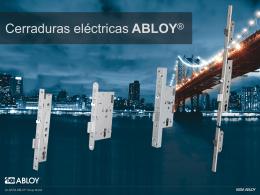 Cerraduras eléctricas ABLOY