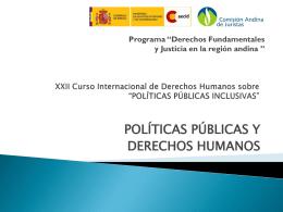 Políticas públicas y derechos humanos