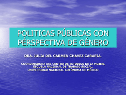 GÉNERO Y POLITICAS PÚBLICAS
