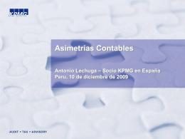 Asimetrías Contables