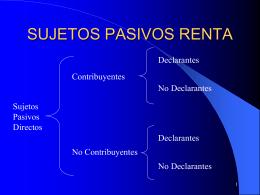 SUJETOS PASIVOS RENTA