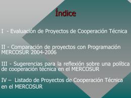 cooperación técnica