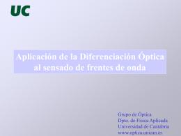 Sensor de alta resolución - Universidad de Cantabria