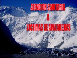 Víctimas avalanchas